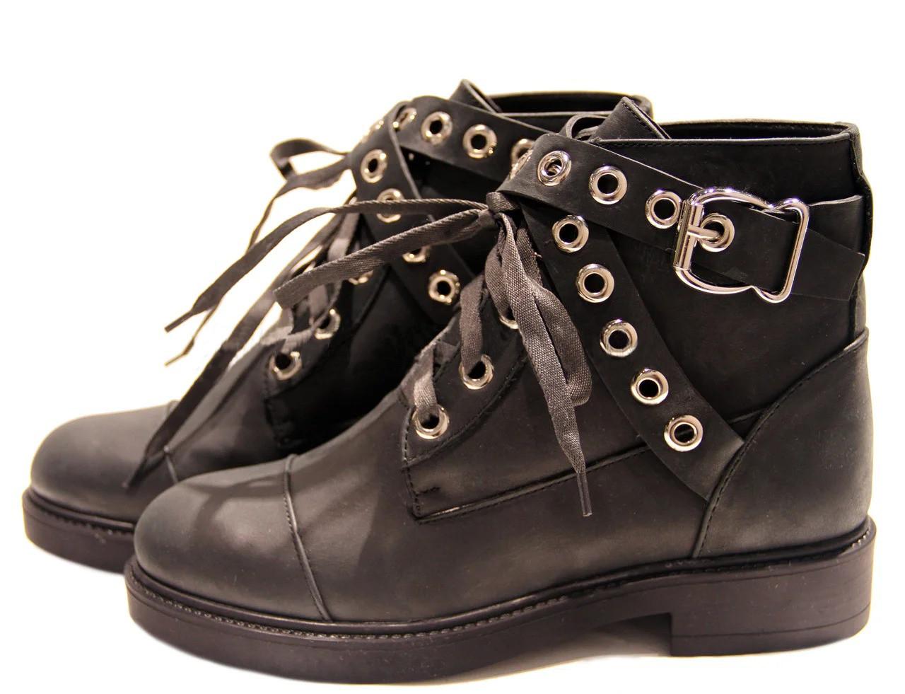 Женские зимние ботинки в натуральном нубуке