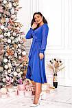 Женское красивое платье на выход трикотаж+люрекс размер: 48-50, 52-54, фото 5