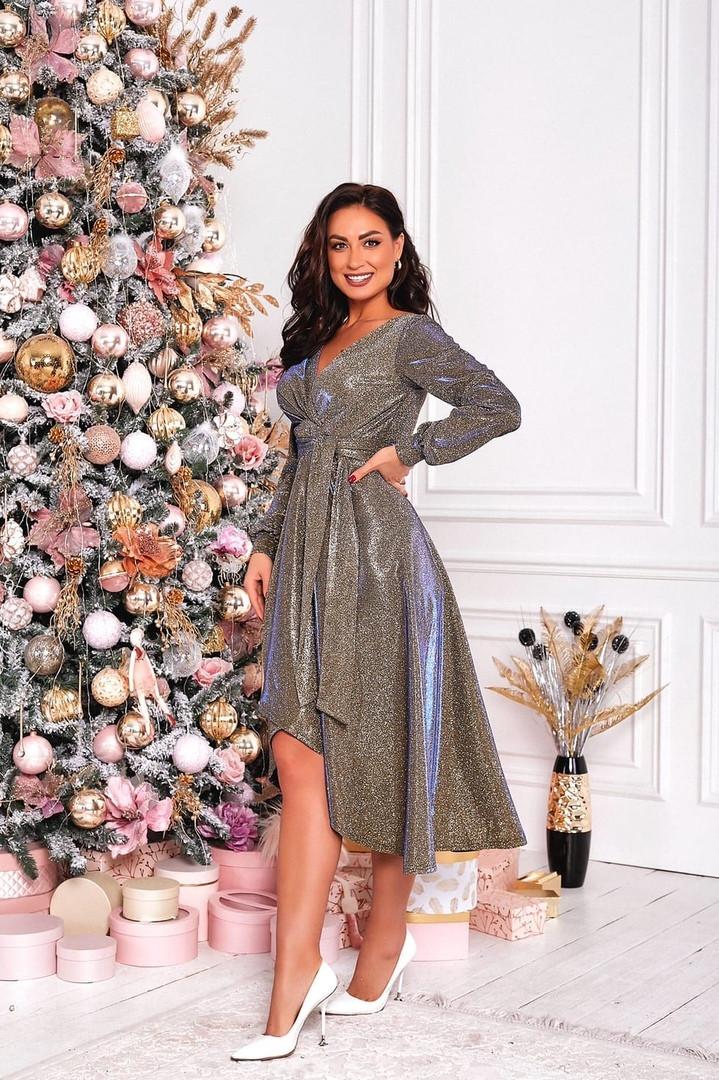 Женское красивое платье на выход трикотаж+люрекс размер: 48-50, 52-54