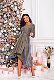 Женское красивое платье на выход трикотаж+люрекс размер: 48-50, 52-54, фото 7