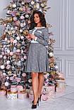 Женское красивое платье в клетку на выход трикотаж размер: 48-50, 52-54, фото 3