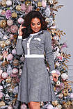 Женское красивое платье в клетку на выход трикотаж размер: 48-50, 52-54, фото 4