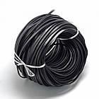 Шнур Натуральная Кожа, Цвет: Черный, Размер: Ширина 5мм, Толщина 2мм/ Упак.: 5 м, фото 3