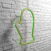 """Светодиодная подвесная фигура """"Рукавичка"""" h=710 мм. Светящаяся led-игрушка из фанеры."""