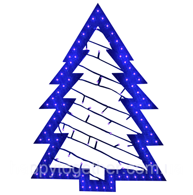 """Новорічна світлодіодна фігура """"Ялинка"""" h=710 мм. Світиться led-іграшка Синя."""