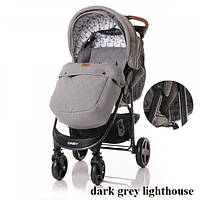 Коляска Lorelli DAISY SET с автокреслом (dark grey lighthouse)