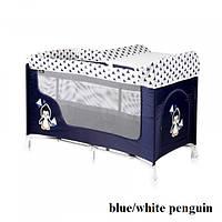 Манеж Lorelli SAN REMO 2L (blue/white penguin)