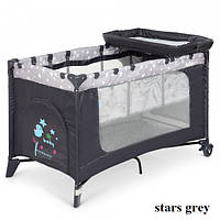 Манеж El Camino SAFE PLUS ME 1054 (stars grey), фото 1