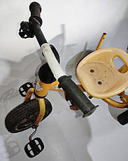 Б/У Велосипед трехколесный Azimut Trike желтый, без родительской ручки и без защитного тента, фото 3