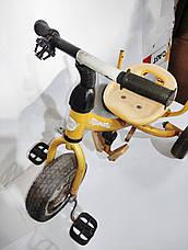 Б/У Велосипед трехколесный Azimut Trike желтый, без родительской ручки и без защитного тента, фото 2