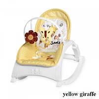 Шезлонг-Качели Lorelli ENJOY (yellow giraffe)