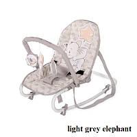 Шезлонг Lorelli ROCK STAR (light grey elephant)