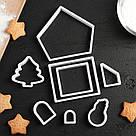 Пряничный домик, набор пластиковых вырубок, фото 4