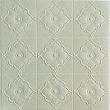3Д панелі стельові самоклеючі, 3D панелі декоративні для обробки стелі, Білий 700х700 мм, фото 2