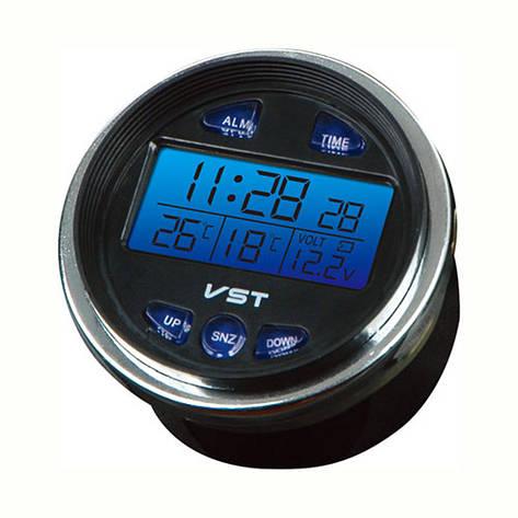 Авточасы VST-7042V, температура, вольтметр, фото 2