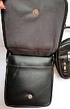 Мужские черные барсетки 3 в 1, в комплекте 3 барсетки разных размеров (20*23; 18*22; 12*16), фото 5
