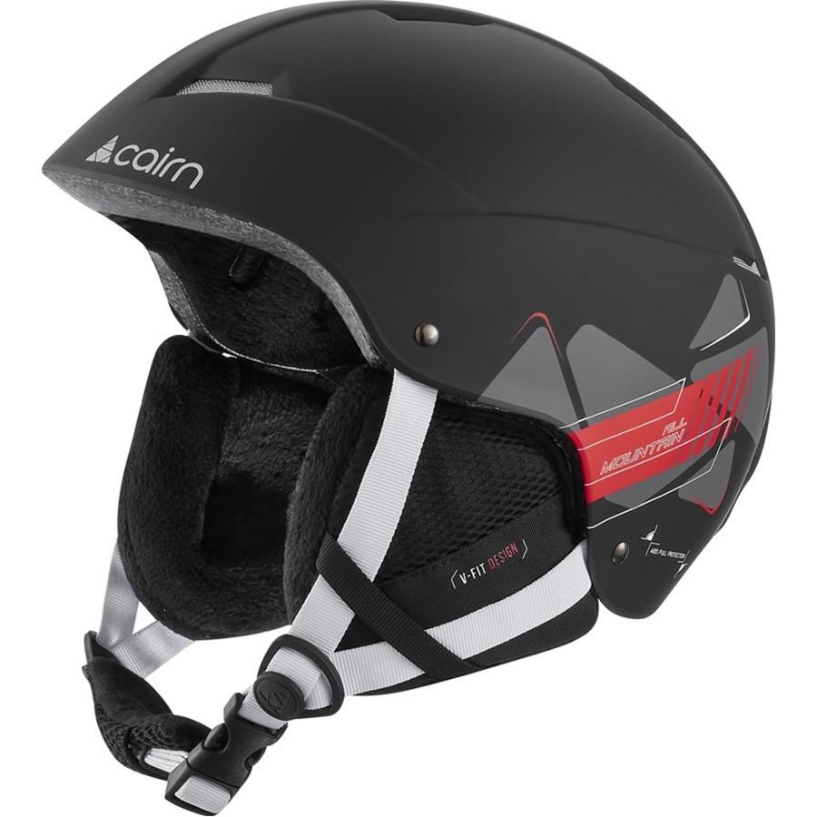 Стильный горнолыжный шлем Cairn Andromed mat black-racing 57-58 (черный)