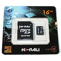 Карта памяти Hi-Rali microSDHC 16GB Class 10 UHS-I U1 + SD-адаптер (HI-16GBSD10U1-01)
