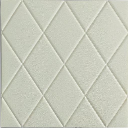 3Д панелі самоклеючі 700х700 мм Білий, декоративні панелі для стін та стелі