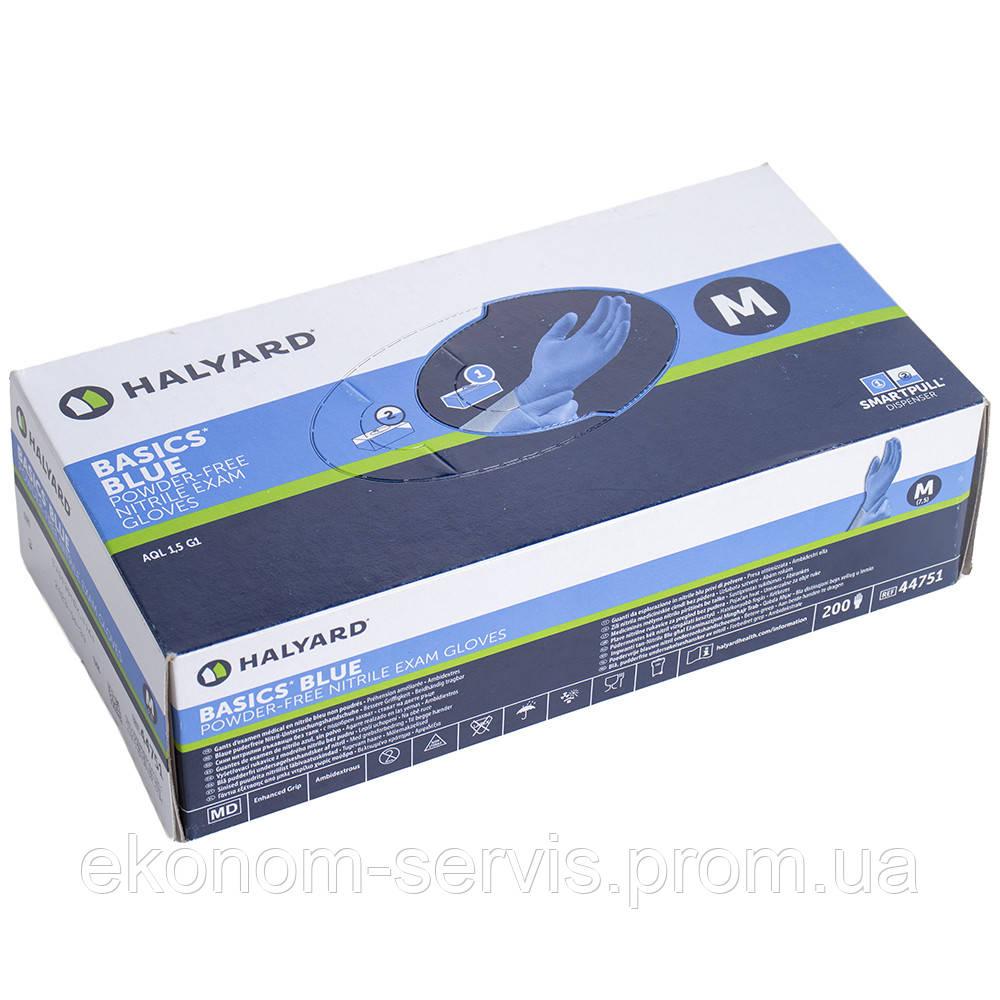 Перчатки нитриловые синие Halyard 200 шт., М