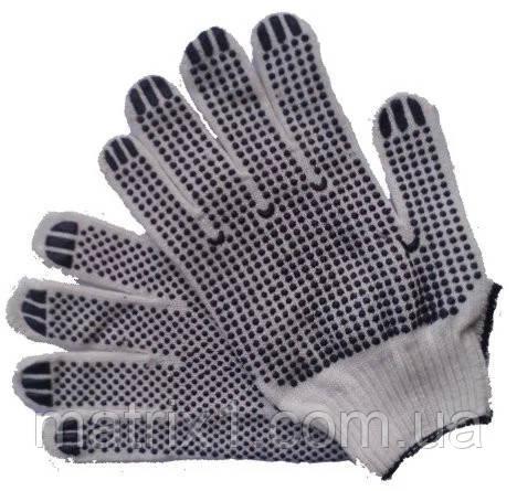 Перчатки трикотажные ХБ натур. цвет двухсторонние WERK