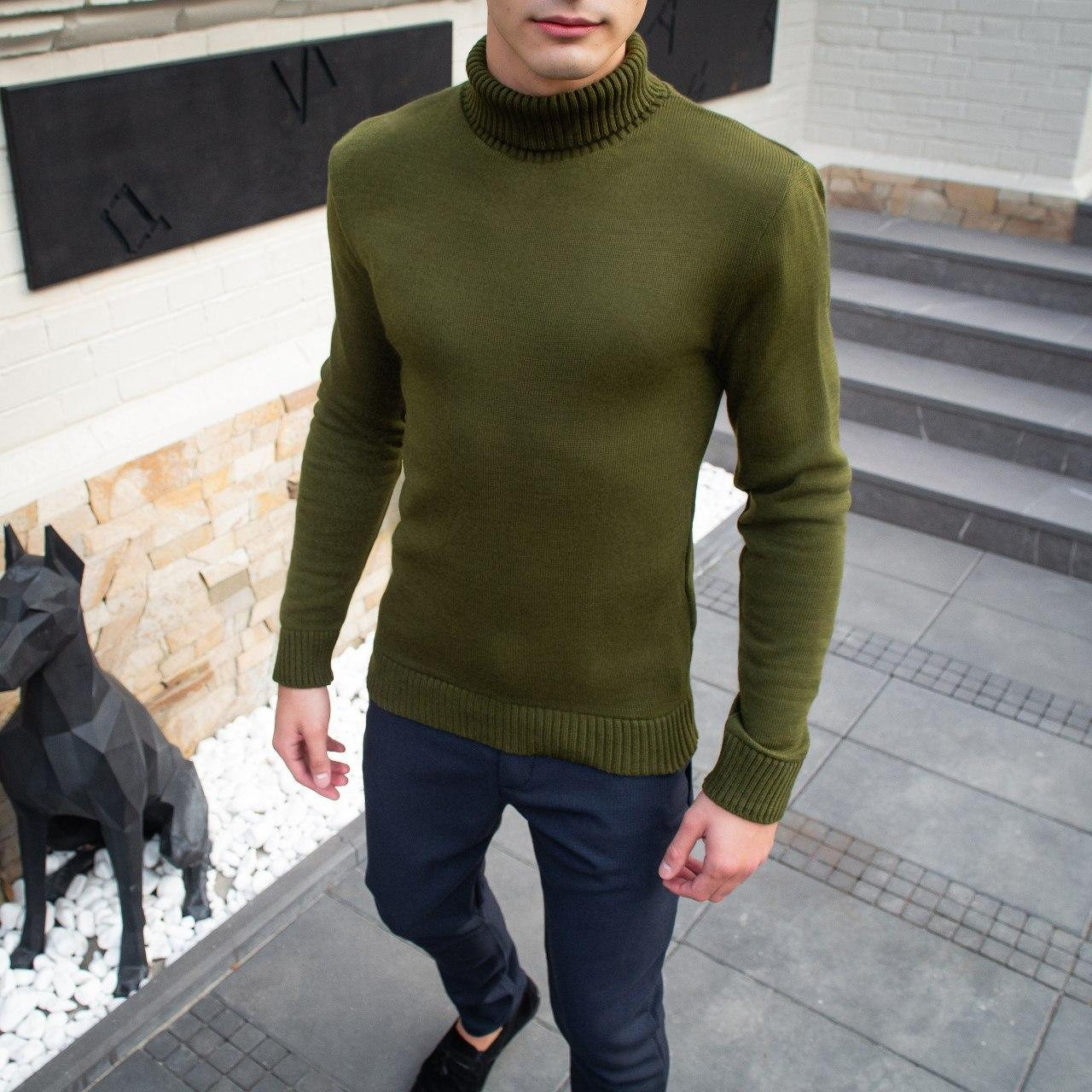 Мужской свитер Axelrod Pobedov (хаки)