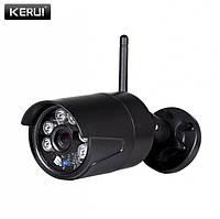 Камера уличная Kerui 1080p Full HD Black (поддержка карт памяти до 128 гб), оптика Sony, 2 мегапикселя