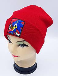 Детская вязаная шапка Klaus Объемный шеврон 53-55см (312-ВА)