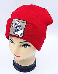 Детская вязаная шапка Klaus Объемный шеврон 53-55см (313-ВА)