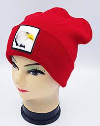 Детская вязаная шапка Klaus Объемный шеврон 53-55см (314-ВА)