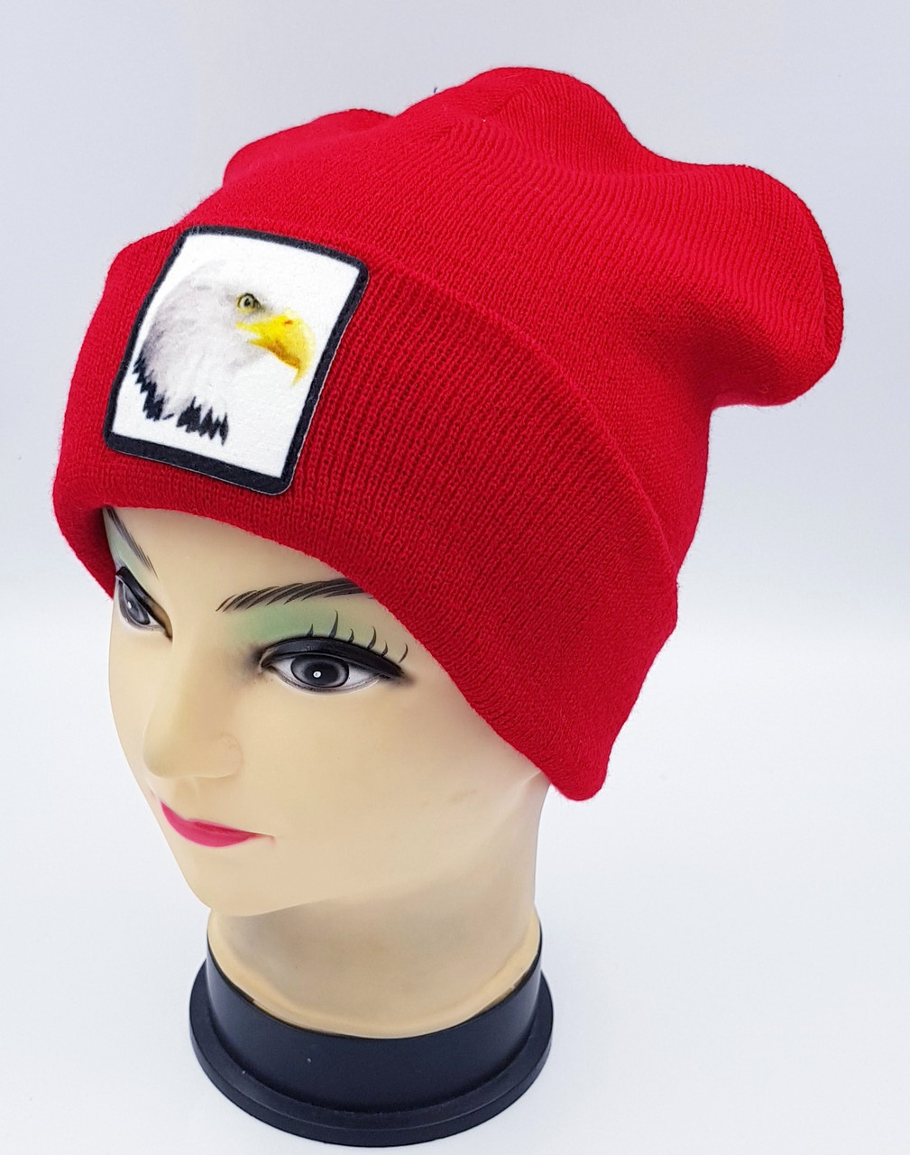 Детская вязаная шапка Klaus Объемный шеврон 53-55см (315-ВА)