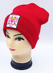 Детская вязаная шапка Klaus Объемный шеврон 53-55см (316-ВА)