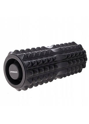 Массажный ролик (валик, роллер) Springos 33.5 x 13.5 см FR0006 Black, фото 2