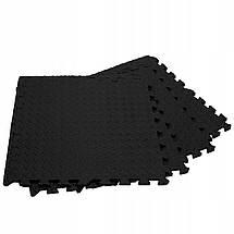 Мат-пазл (ласточкин хвост) Springos Mat Puzzle EVA 120 x 120 x 1.2 cм FM0004 Black, фото 3