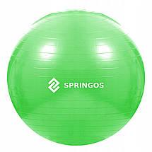 Мяч для фитнеса (фитбол) Springos 65 см Anti-Burst FB0007 Green, фото 3