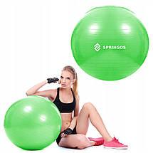 Мяч для фитнеса (фитбол) Springos 65 см Anti-Burst FB0007 Green, фото 2