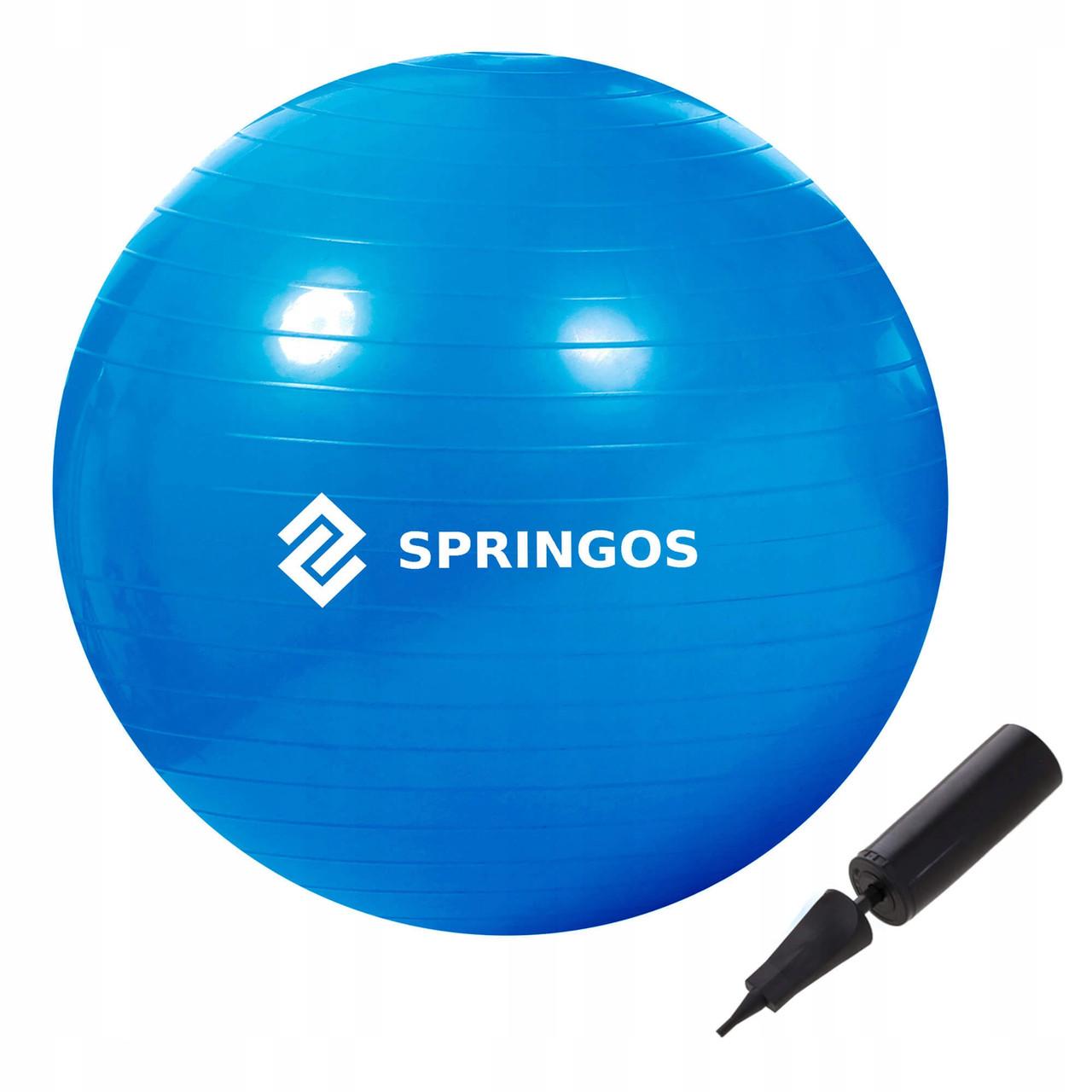 Мяч для фитнеса (фитбол) Springos 85 см Anti-Burst FB0009 Blue