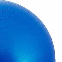 Мяч для фитнеса (фитбол) Springos 85 см Anti-Burst FB0009 Blue, фото 2