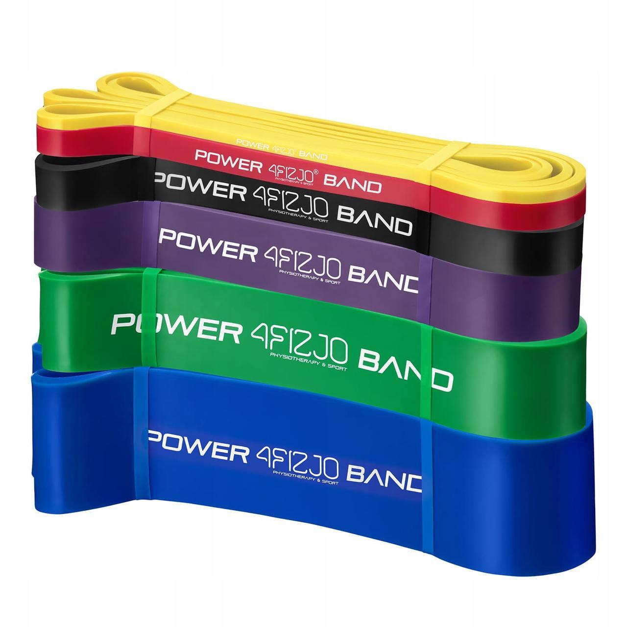 Эспандер-петля (резинка для фитнеса и спорта) 4FIZJO Power Band 6 шт 2-46 кг 4FJ0064