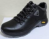 Ботинки осенние мужские кожаные от производителя модель АН220, фото 2