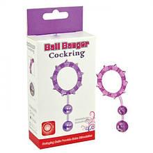 Кольцо эрекционное с 2 утежеляющими шариками Ball Banger Cock Ring - Love&Life