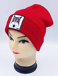 Детская вязаная шапка Klaus Объемный шеврон 53-55см (318-ВА)