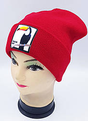 Детская вязаная шапка Klaus Объемный шеврон 53-55см (319-ВА)