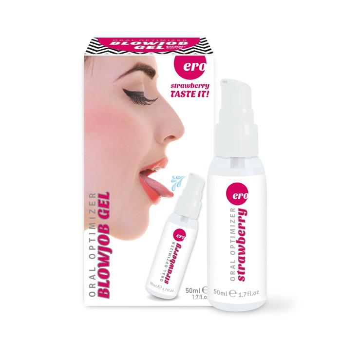 Гель для минета клубничный HOT Oral Optimizer