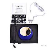 Клиторальный вибратор Lelo Ora Midnight Blue (Лело) платинум силикон на аккумуляторе, фото 5