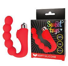 Вибратор для вагинальной и анальной стимуляции SWEET TOYS L 115 мм D 24 мм, цвет красный - Love&Life