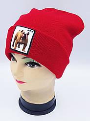 Детская вязаная шапка Klaus Объемный шеврон 53-55см (321-ВА)