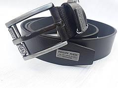 Ремень мужской кожаный стильный ширина 4 см Р-99