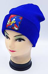 Детская вязаная шапка Klaus Объемный шеврон 53-55см (322-ВА)