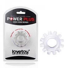 Прозрачное эрекционное кольцо на пенис Lovetoy Power Plus - Love&Life